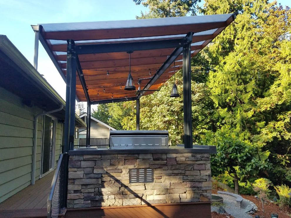 Outdoor kitchens designed by Pacific Paver Co. in Sammamish, WA - paving companies near me - paver coupons near me