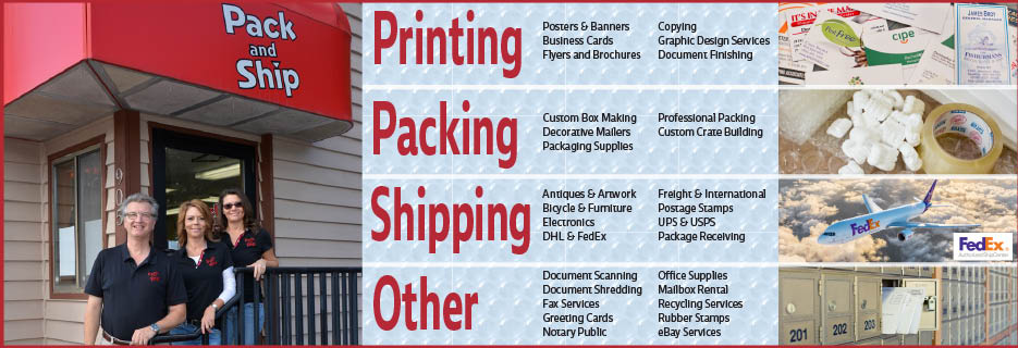 Printing, Packing, Shipping, Mail, Copies, FedEx, USPS, UPS