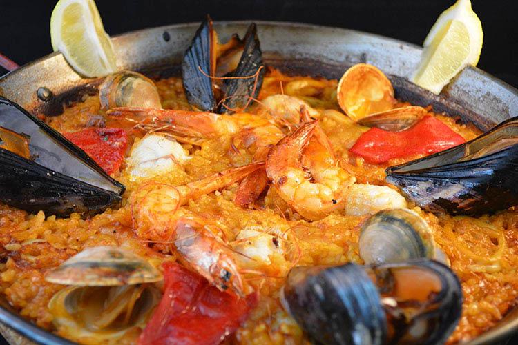 happy hour, seafood, pasta, tapas, paellas, salads, desserts, kids meal; Washington, DC & Rockville, MD