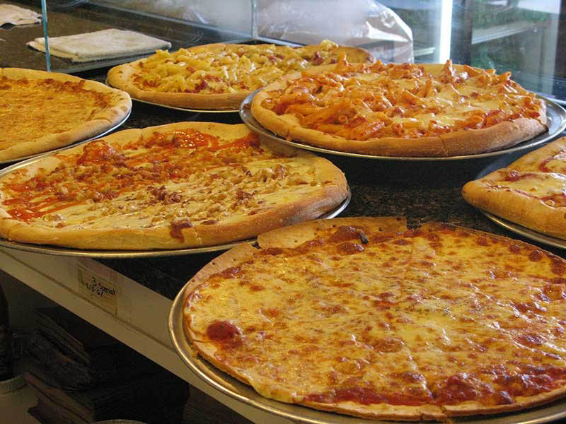 Pizzas available at Paesano Pizzeria & Ristorante in Vernon NJ