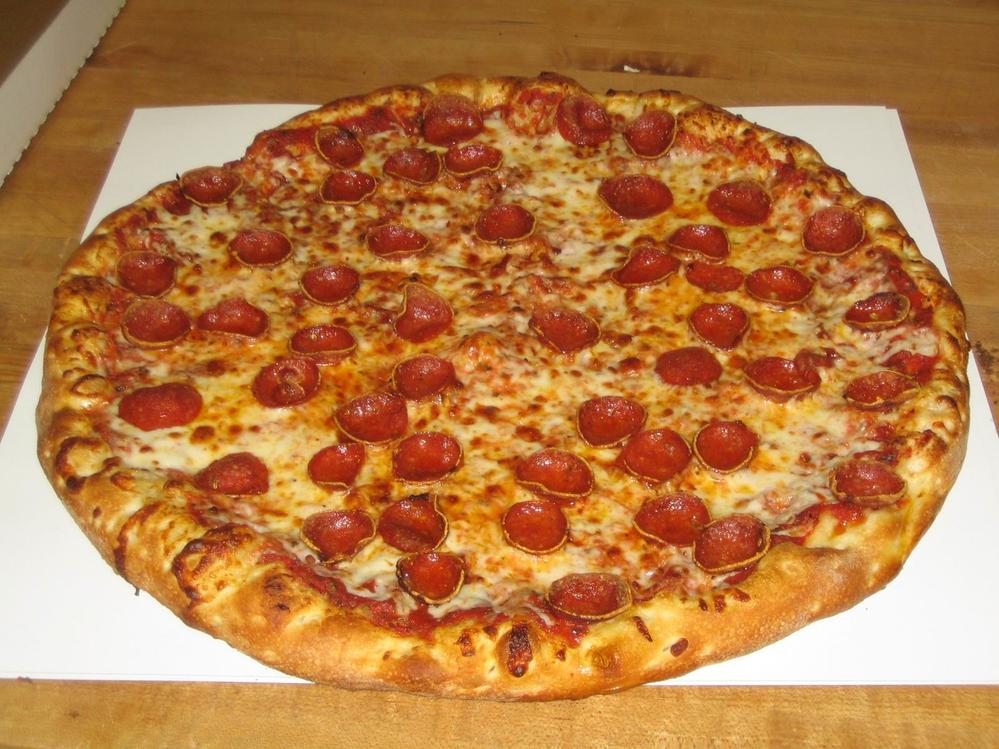 large pepperoni pontillo's greece NY