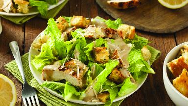 Crispy green caesar salad