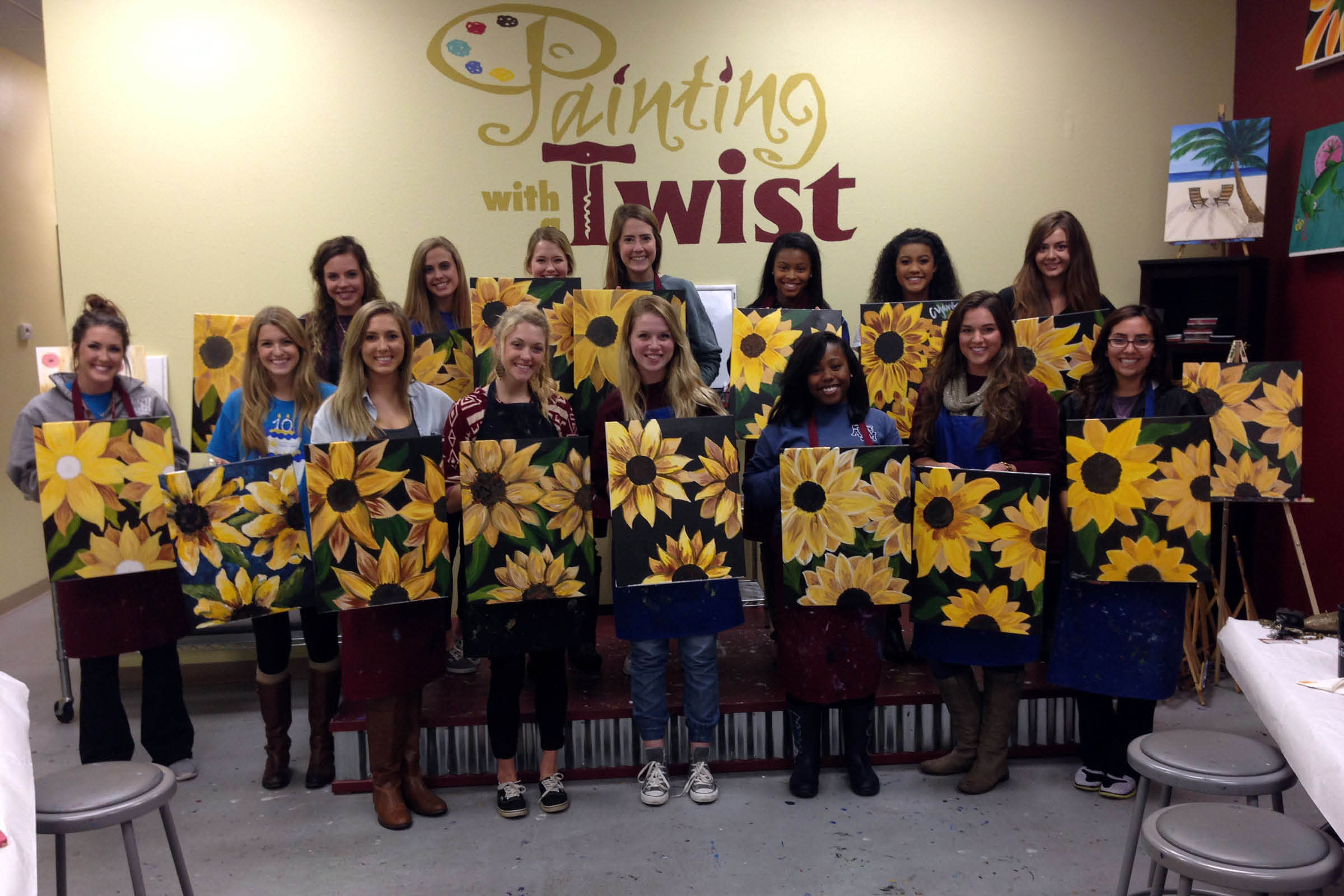 painting twist group class event
