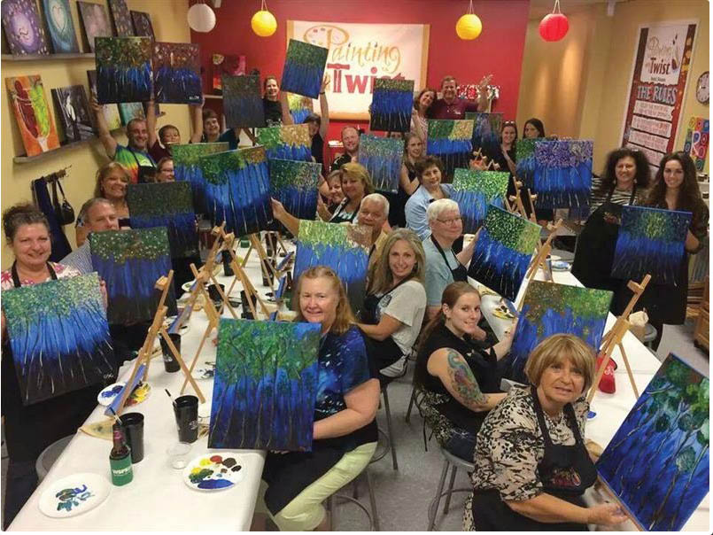 paint night,painting with a twist,paint,newark de activity,date night,discount,deal,
