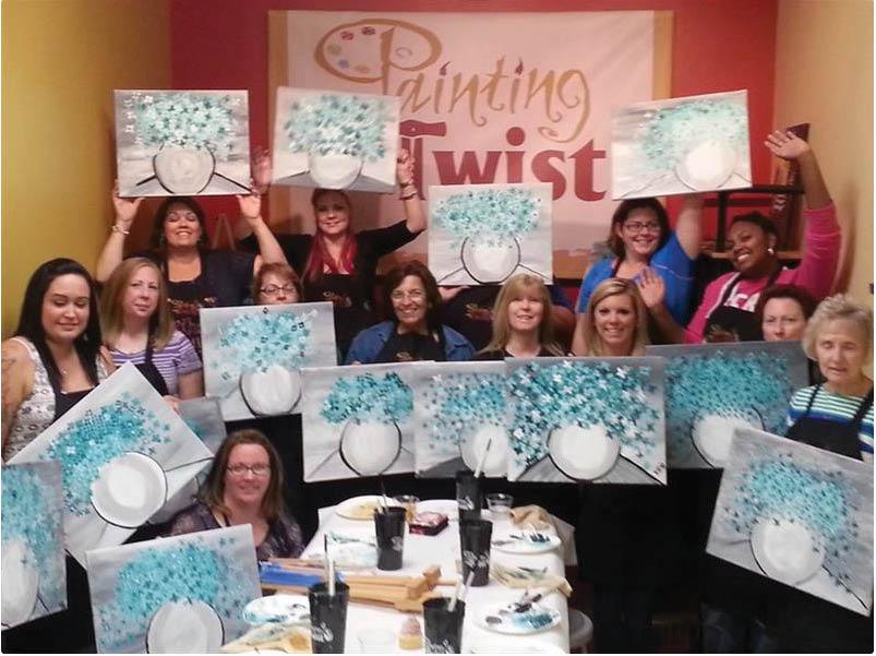 paint with friends,painting,paint night in newark de,middletown paint,discount,deal,group paint,paint your pet,