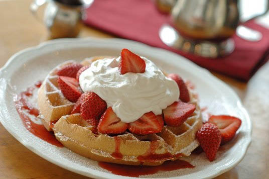Substitute the pancakes for a Belgian waffle in Ft. Lauderdale & Boynton Beach FL.