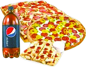 Picture of Papa's Pizza mega meal