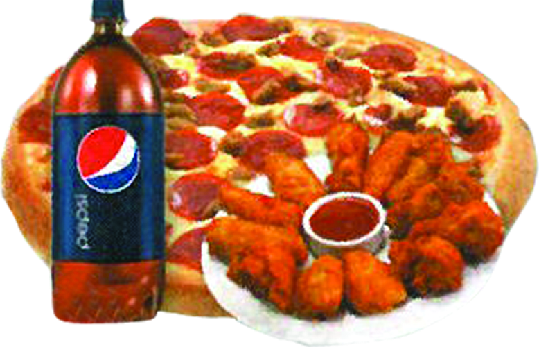 Picture of Papa's Pizza wings & pizza