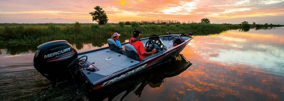 Cruising on a rental boat during sunset