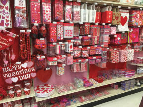 Valentine's Day supplies at Party Fair in Chester NJ