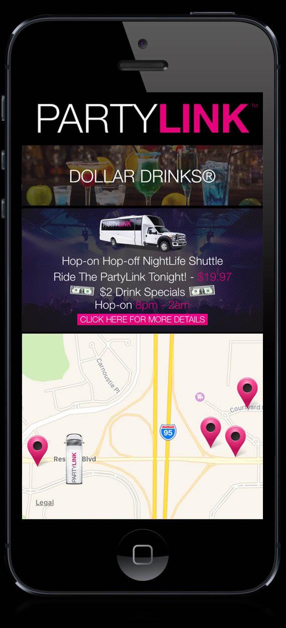 Pub crawl, party bus near Hollywood, FL