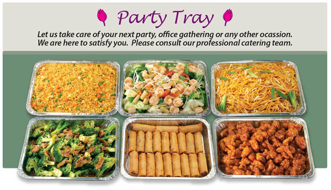 Party Trays from Wongs Chinese in Fridley, MN