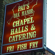 Pat's Oak Manor near Oak Creek, Wisconsin Wedding chapel, hall, marriage, catering, bar, fish fry, restaurant