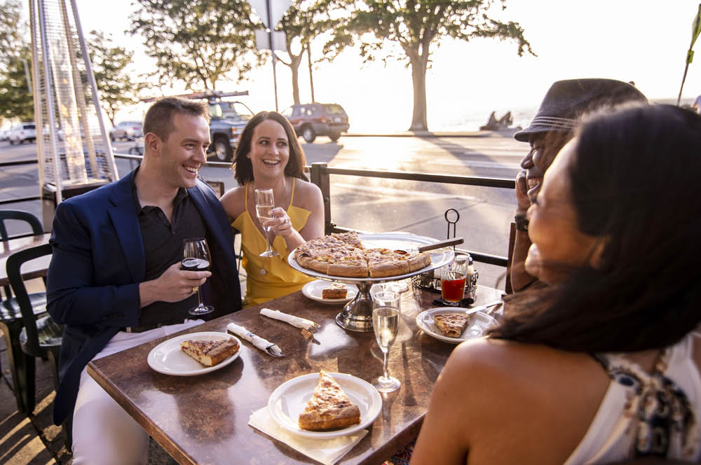 Enjoy fine Italian dining and pizza with friends at Pegasus Pizza & Pasta in West Seattle, WA on Alki - dining coupons near me - pizza coupons near me