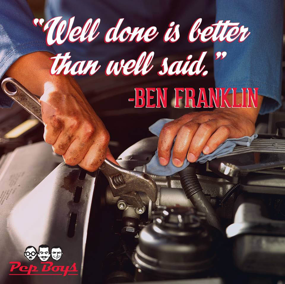 Quality auto parts and auto service is available - Pep Boys - Elliott Tire & Auto Service