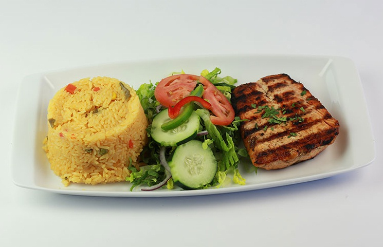 Perfectly spiced grilled salmon