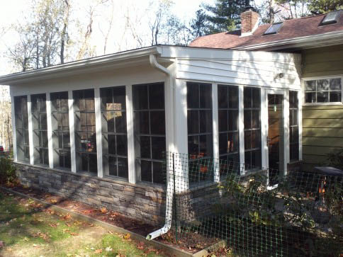 A screened in porch can add value to your existing home