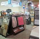 photo of carpet samples displayed inside of Perfect Floors in Rochester Hills, MI