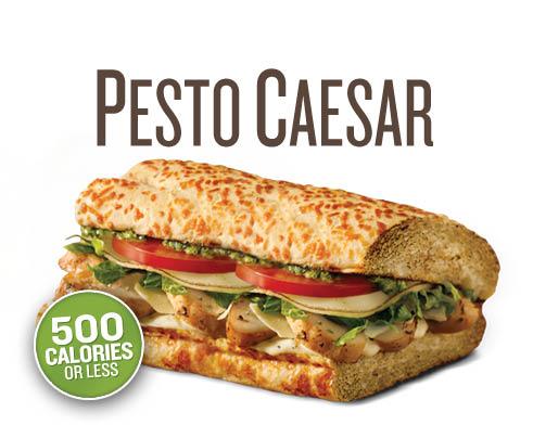 QUIZNO'S Pesto Caeser Sub