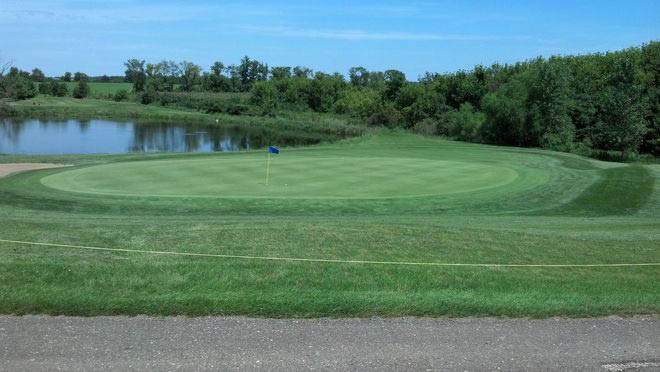 Beautiful wide sweeping greens at Pheasant Hills Golf Course in Hammond, WI