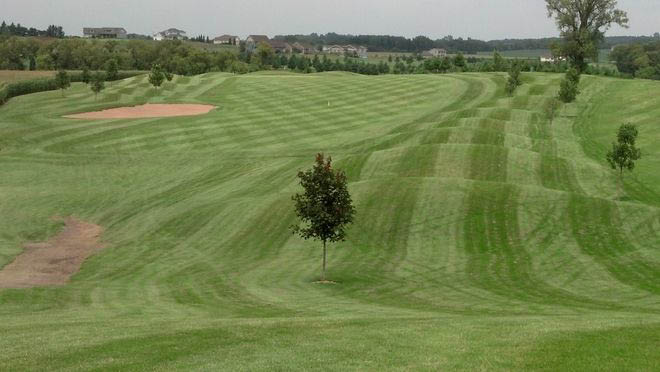 Nicely cut grass on fairways, greens and aprons