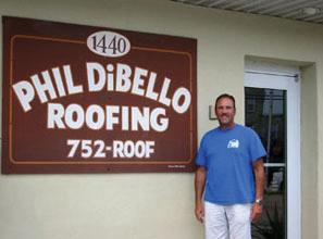 Phil DiBello Family Roofing signage