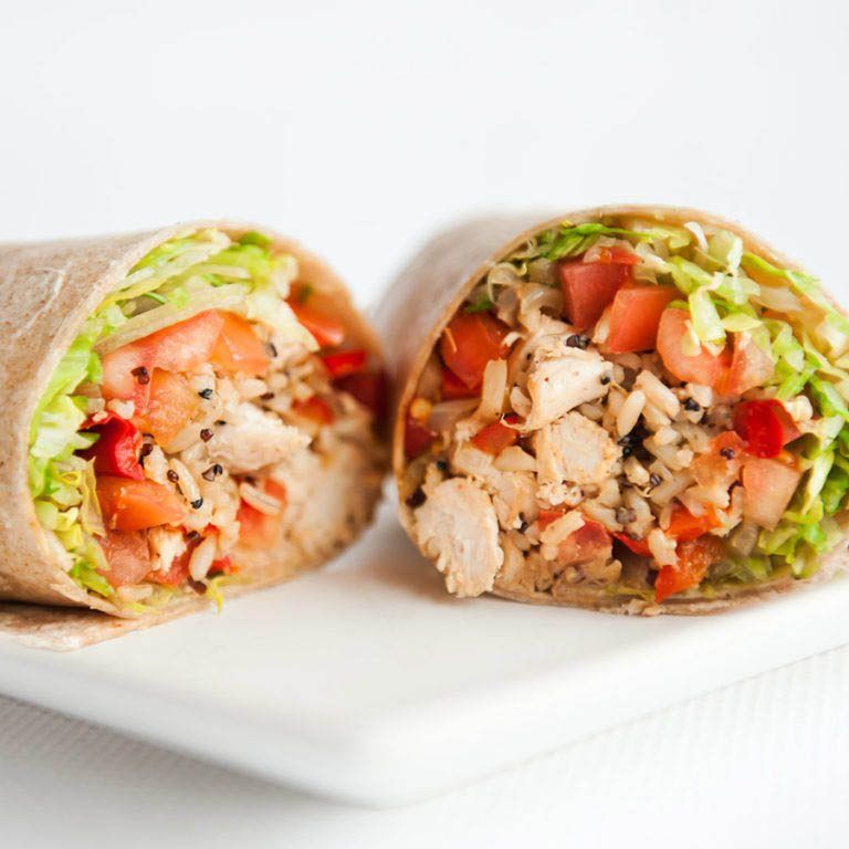 healthy lunch wraps piezoni's pizza RI