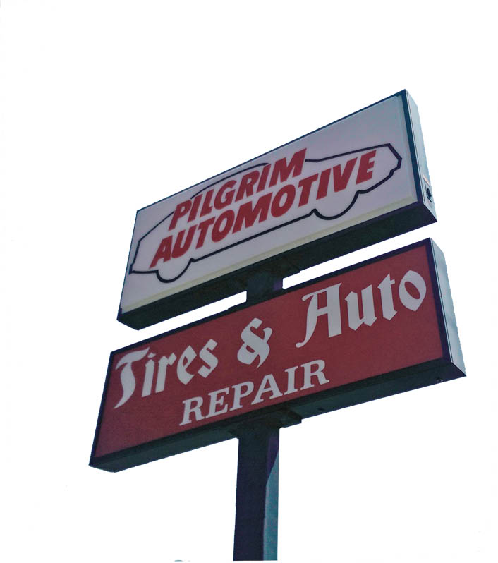 photo of Pilgrim Automotive sign in Plymouth, MI