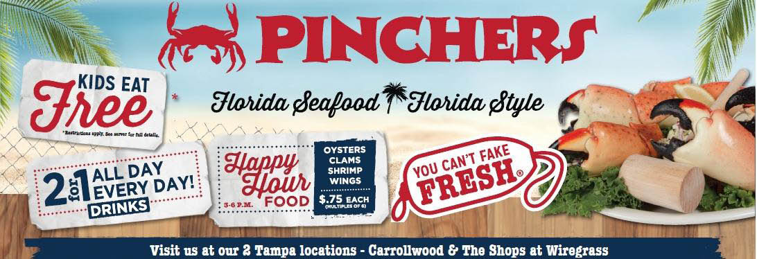 pinchers banner lakewood ranch, venice & wesley chapel, fl