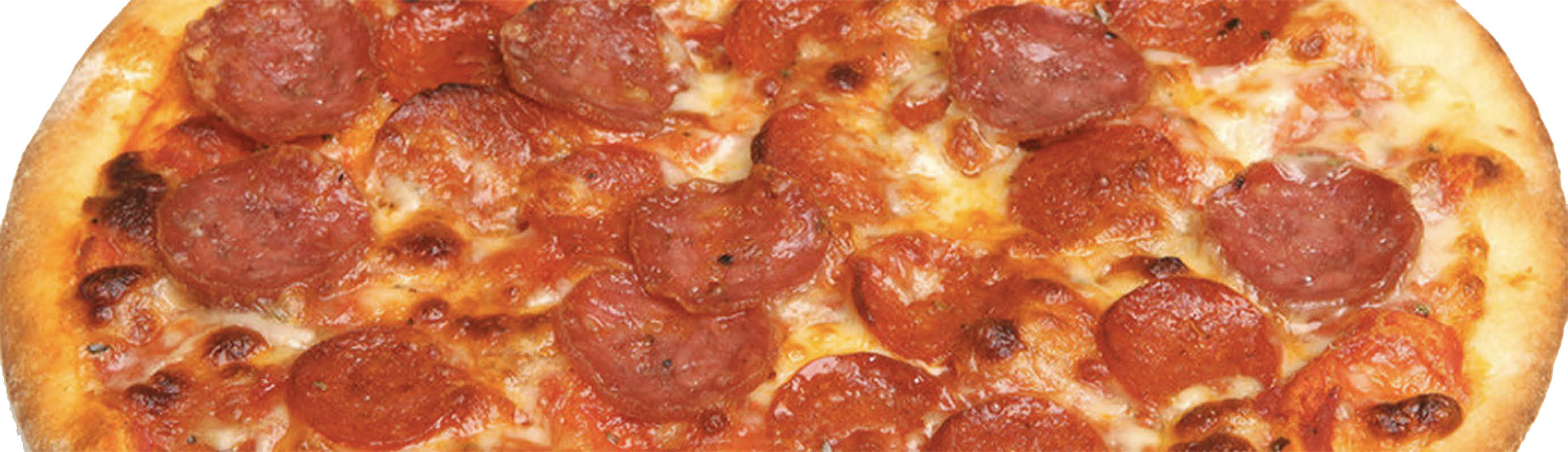 Hot and fresh pepperoni pizza from Pisa Pizza
