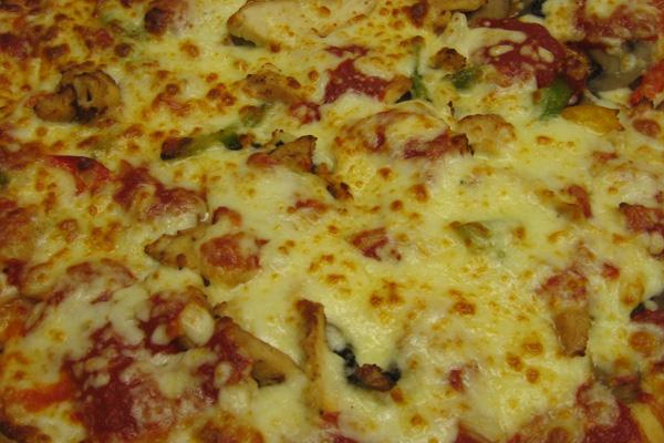 Chicken Cacciatore specialty pizza