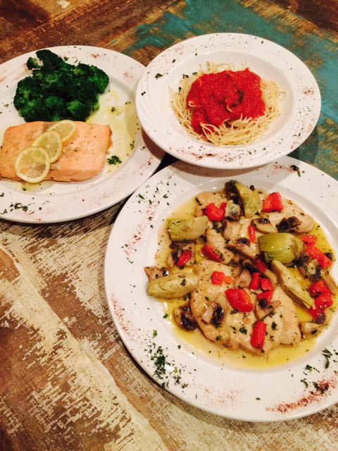Delicious al dente pasta entrée Italian food