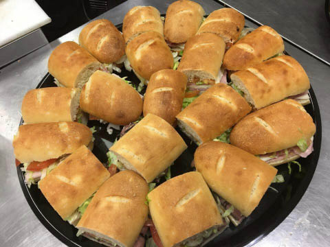 For your next event or tailgate party order a Pizzetta's sandwich tray