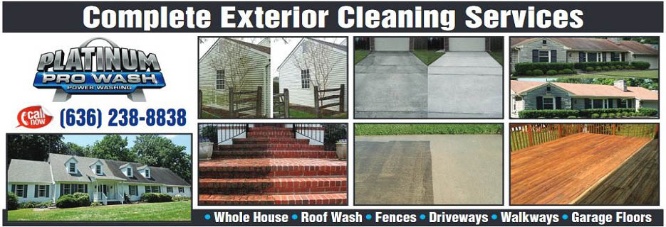 Collage of before and after pressure washing photos