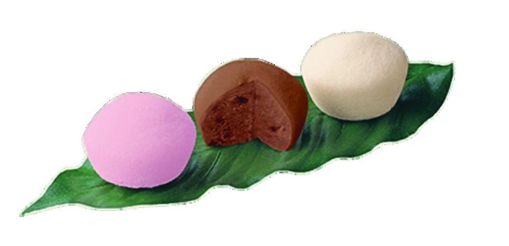 Mochi ice cream dessert at Poke Bowlz
