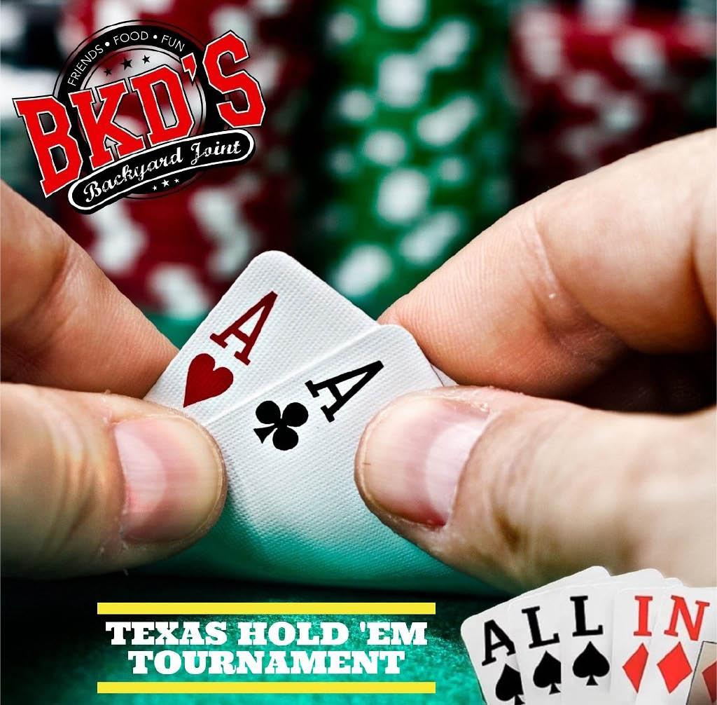 Poker night at BKD's sports bar taco tuesday and karaoke night
