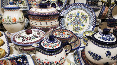 photo of Polish pottery from Polish Pottery and Beyond in South Lyon, MI