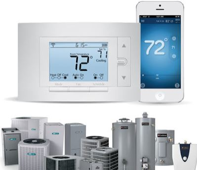 photo of programmable thermostat and products from Pollard Heating and Cooling in Dearborn, MI