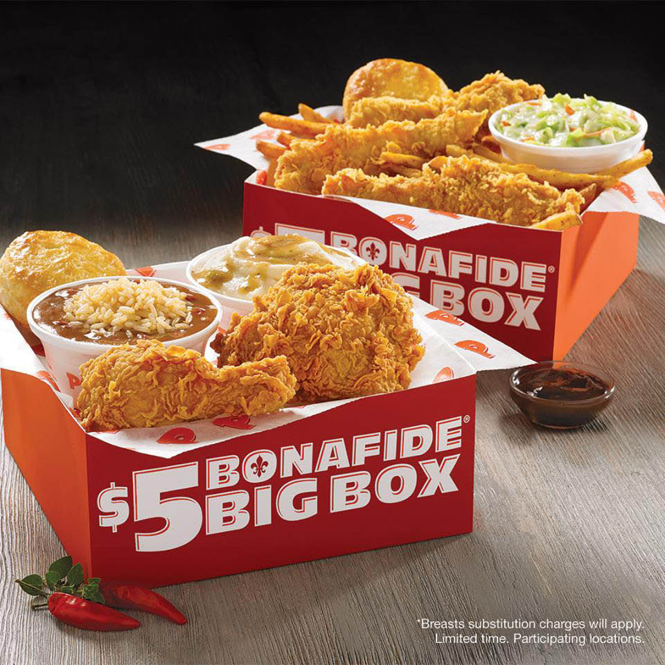 Popeyes Louisiana Kitchen - Popeyes Chicken - Marysville, WA - $5 Bonafide Big Box
