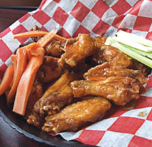 Wings available in many flavors at Pop's Chicken in Wharton NJ