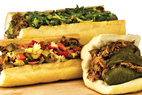 hot sandwiches with freshly carved meats