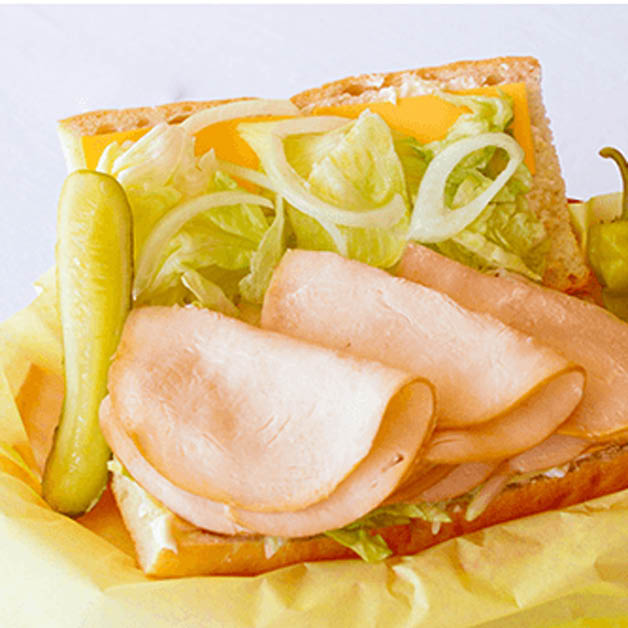 deli sandwich with turkey