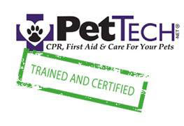 We are trained & certified in CPR, first aid & pet care