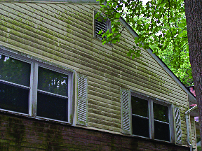 Before receiving a power washing treatment by a-1 spotless powerwashing services in Warren, Nj