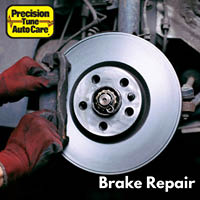 Mechanic fixing brakes
