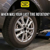 When was your last tire rotation?