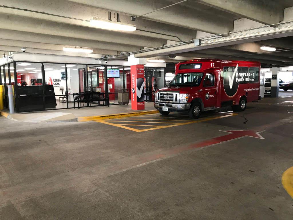 PreFlight airport parking shuttle