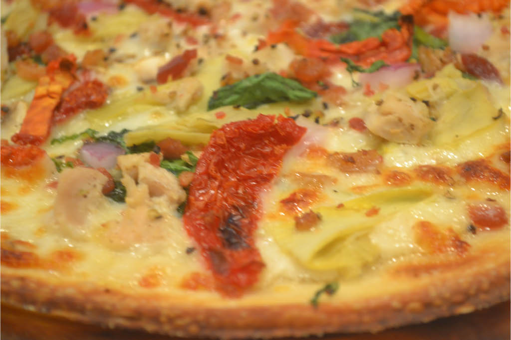 Delicious, hot, fresh, cheese, toppings, sausage, pizza, family, dessert, sweet, savory