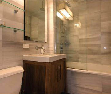 photo of bathroom remodeled by Pro Brothers Construction in Hartland, MI