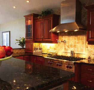 photo of kitchen remodeled by Pro Brothers Construction in Hartland, MI